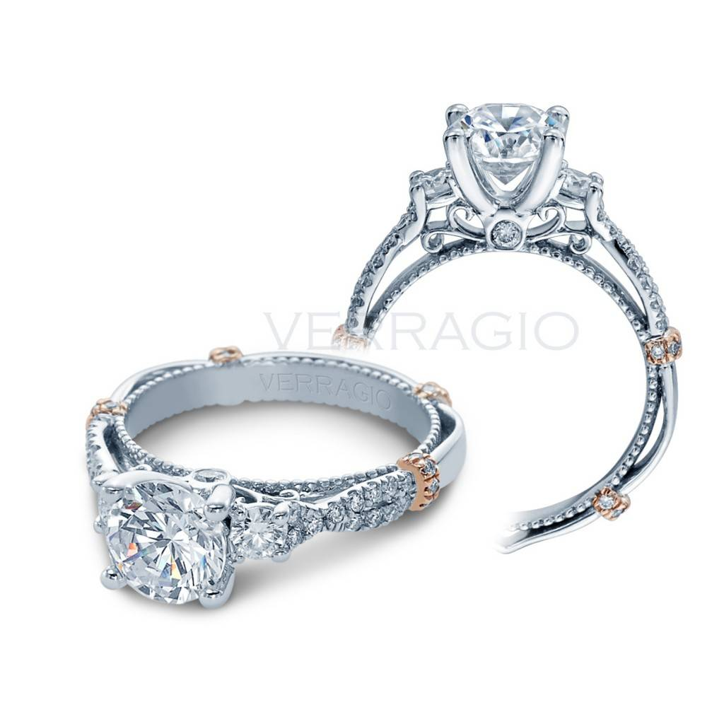 Verragio Engagement Ring with Rose Gold