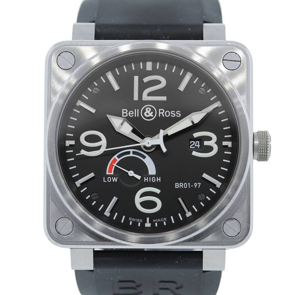 Bell And Ross Watches >> Bell Ross Aviation Reserve De Marche Black Dial Mens Watch