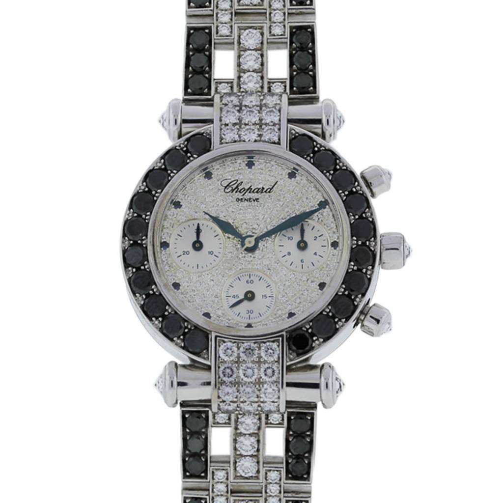 chopard imperiale 18k white gold chronograph