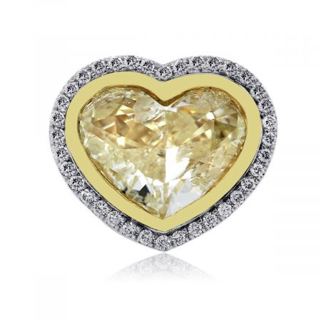 18k Gold Fancy Light Yellow Diamond Engagement Ring