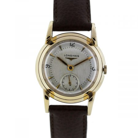 You are viewing this Longines 14K Yellow Gold Vintage Automatic Mens Wristwatch!