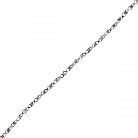 You are viewing this White Gold Round Brilliant Cut Diamond Bracelet!