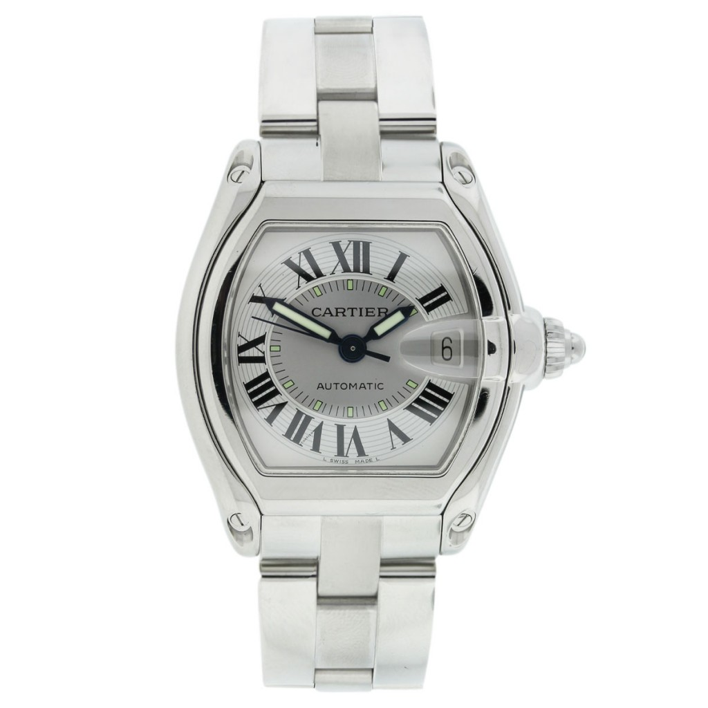 cartier roadster stainless steel automatic mens