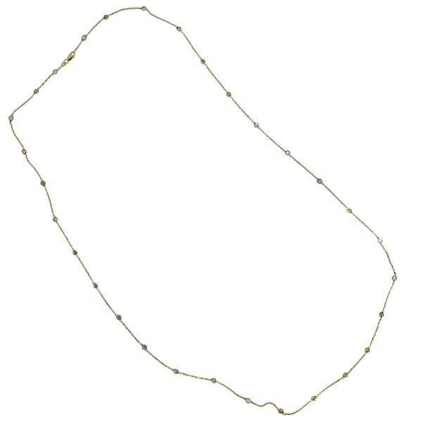 "Yellow Gold Diamonds by The Yard 32"" Necklace"