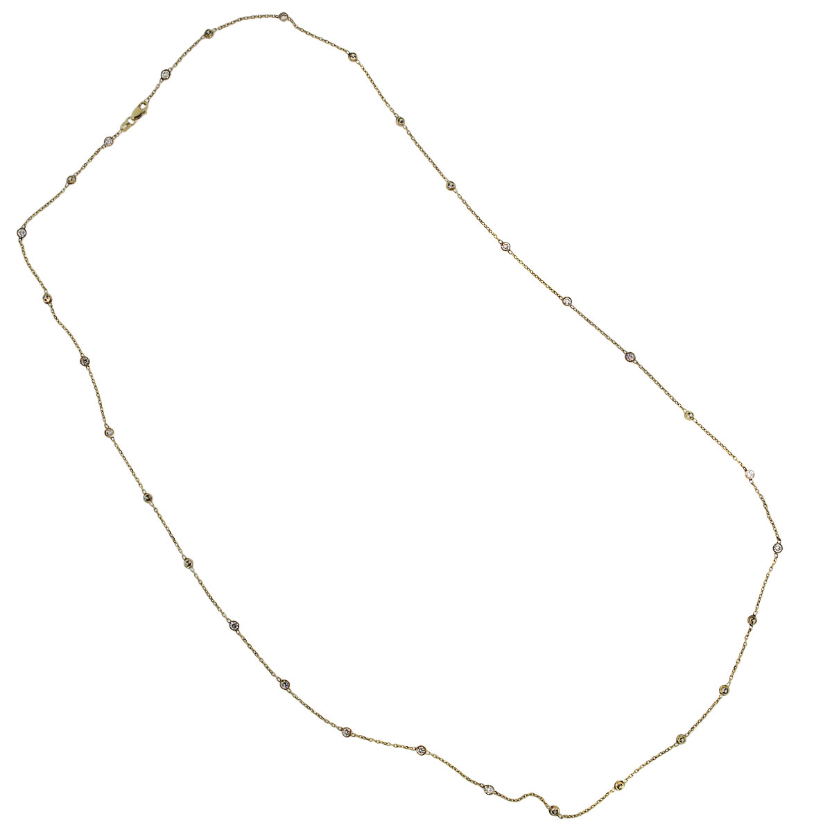 """Yellow Gold Diamonds by The Yard 32"""" Necklace"""