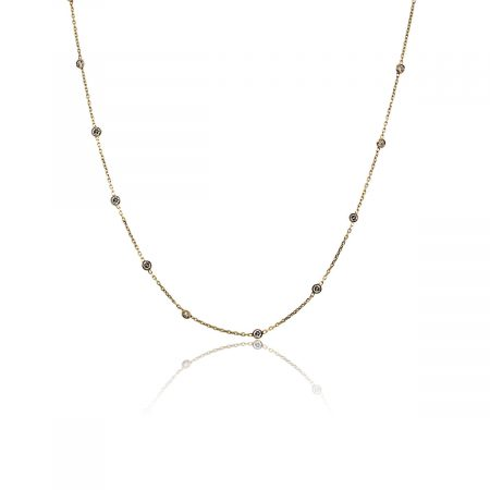 """You are viewing this 14k Yellow Gold Diamonds by The Yard 32"""" Necklace!"""