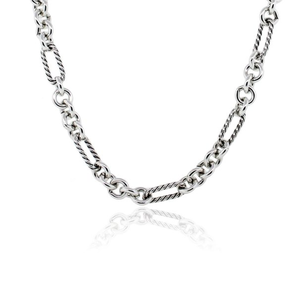 You are viewing this David Yurman Sterling Silver 18k Yellow Gold Link Chain Necklace!