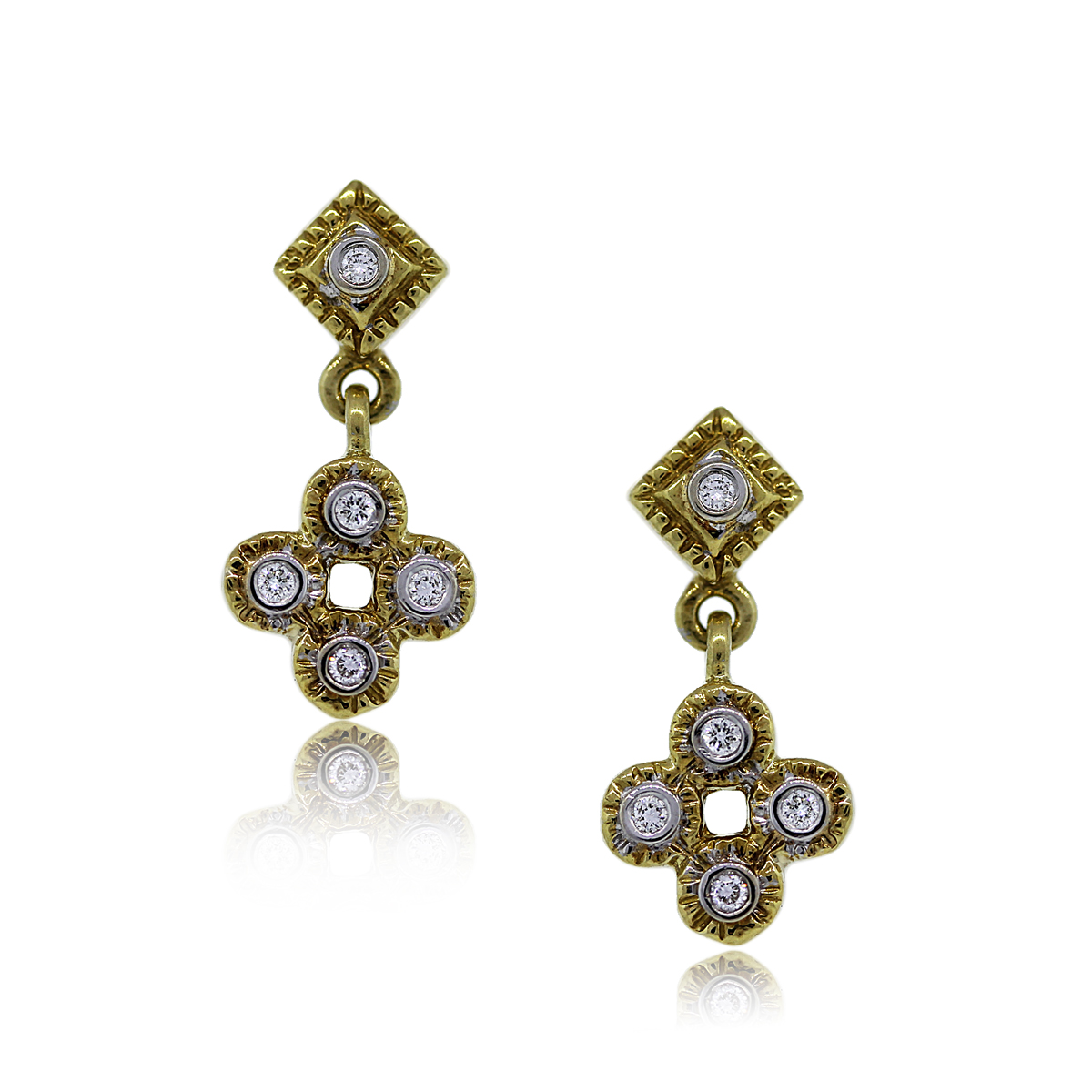 You are Viewing these Stunning Diamond Drop Dangle Earrings!