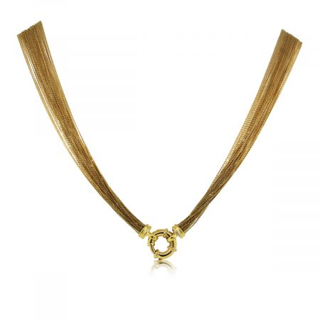 You are Viewing this Stunning 18k Yellow Gold Multi Chain Necklace!