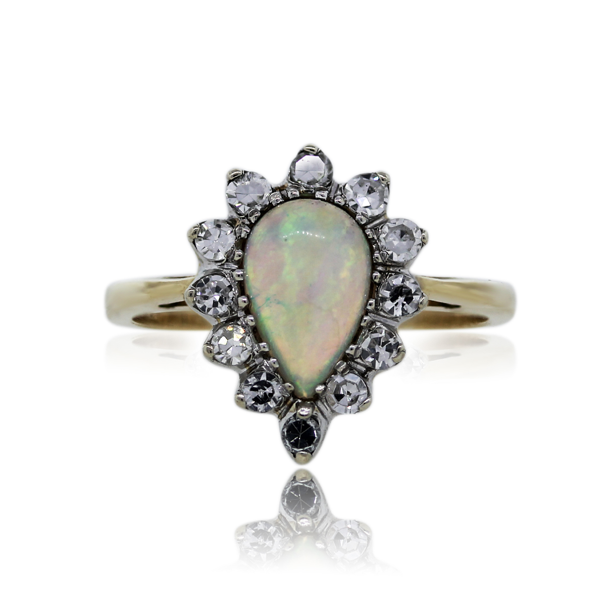 You are Viewing this Opal and Diamond Cocktail Ring