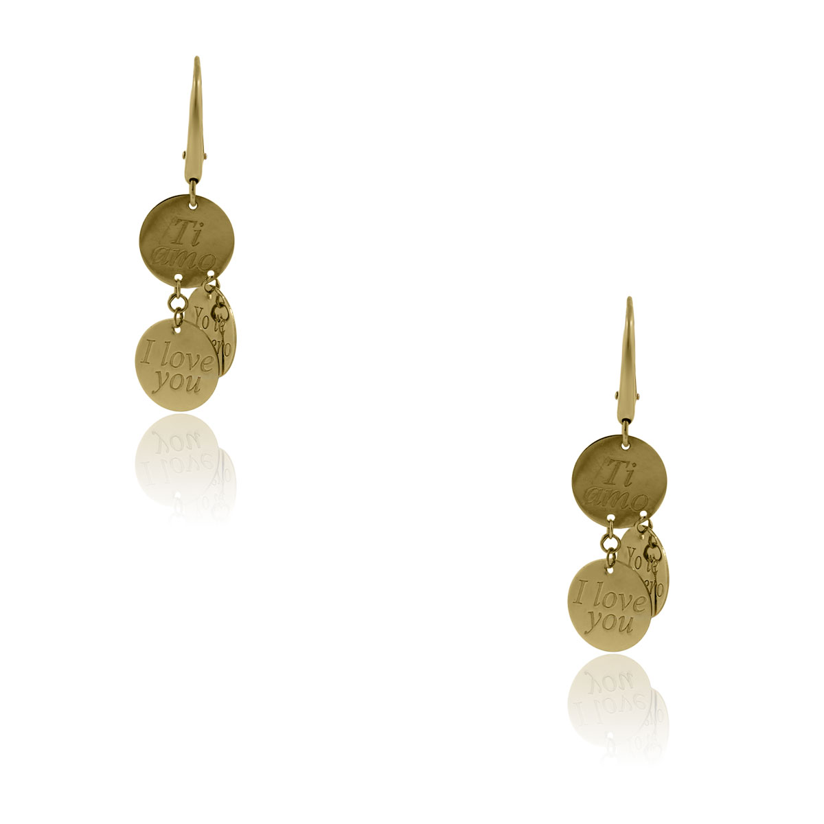Roberto Coin Love Plus 18k Yellow Gold Dangle Earrings!