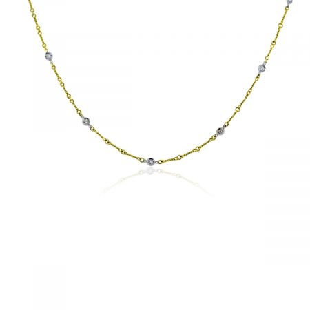 Roberto Coin 18k Yellow Gold Diamond by The Yard Necklace!