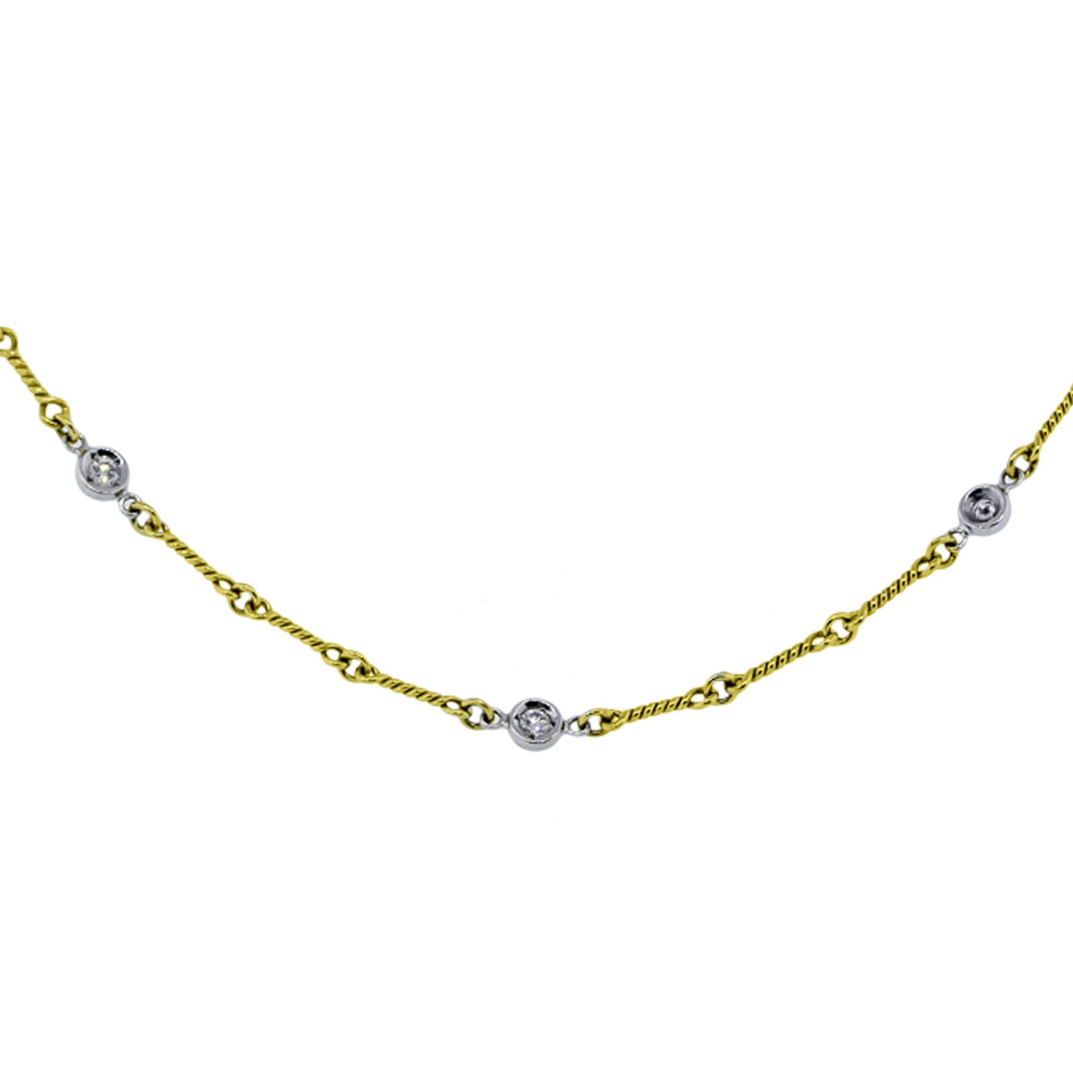 roberto coin jewelry 18k Yellow Gold Diamond by The Yard Necklace