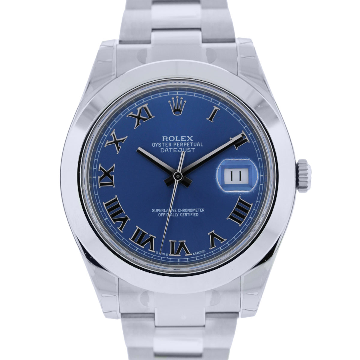 You are viewing this Rolex Datejust Two 116300 Blue Dial Stainless Steel Watch!