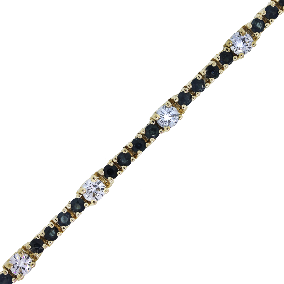 You are Viewing this Stunning Sapphire and Diamond Tennis Bracelet