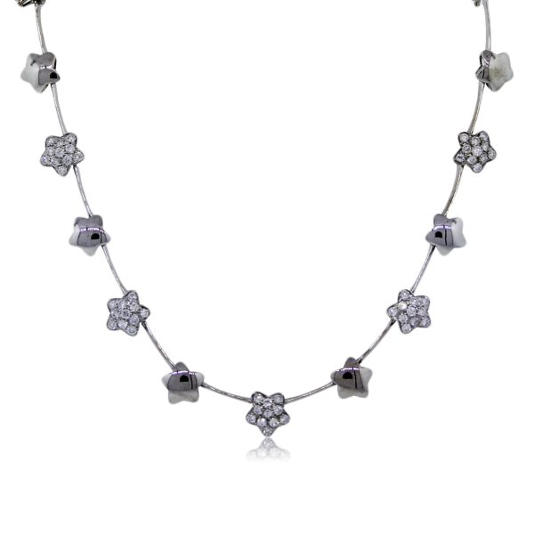 Diamond and Star Necklace