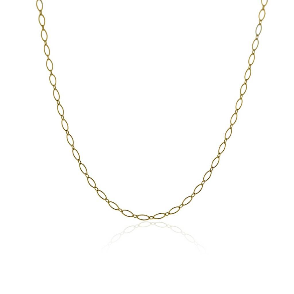 "tiffany & Co. 18k Yellow Gold 30"" Oval Link Chain Necklace!"