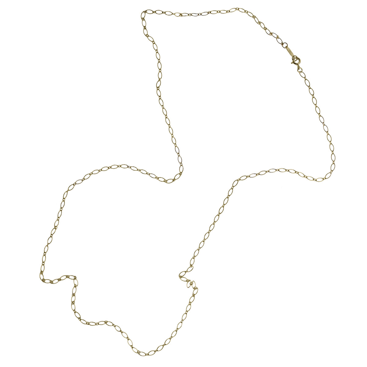 """Tiffany & Co. 18k Yellow Gold 30"""" Oval Necklace"""