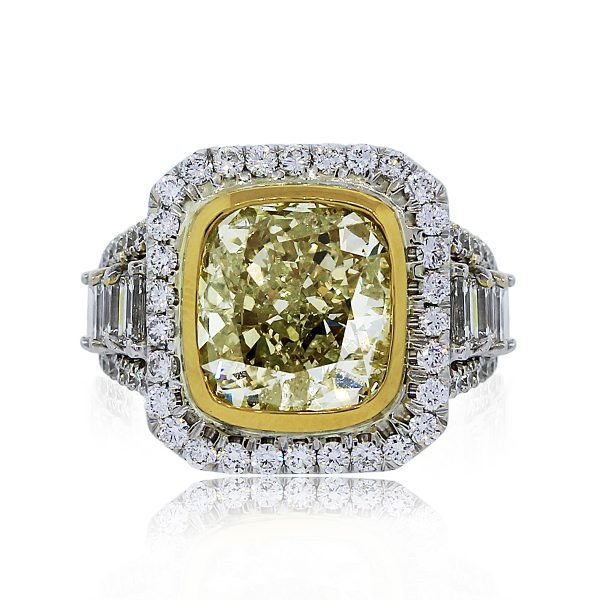 You are Viewing this Two Tone Fancy Light Yellow Engagement Ring