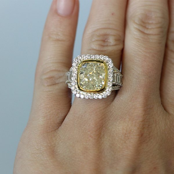 Fancy Light Yellow Engagement Ring