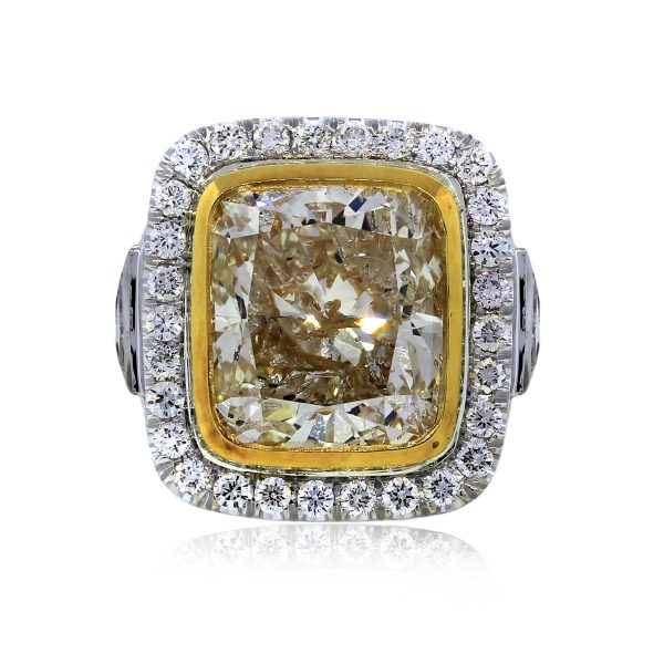 You are Viewing this Two Tone Fancy Yellow Diamond Engagement Ring