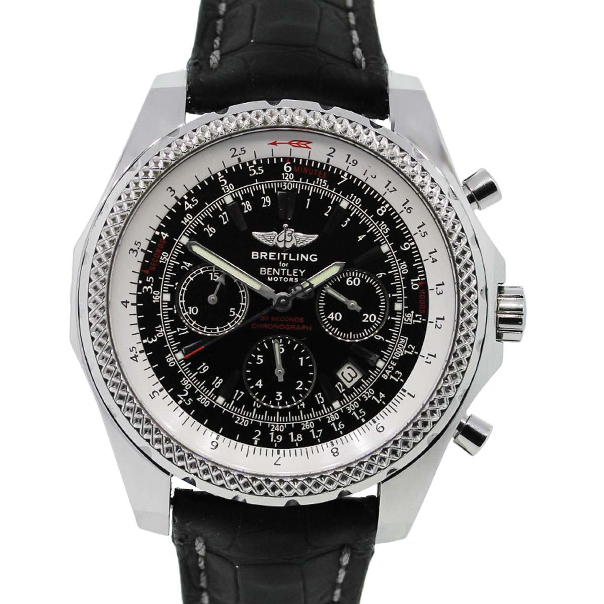 breitling for bentley a25962 black dial special edition watch. Black Bedroom Furniture Sets. Home Design Ideas