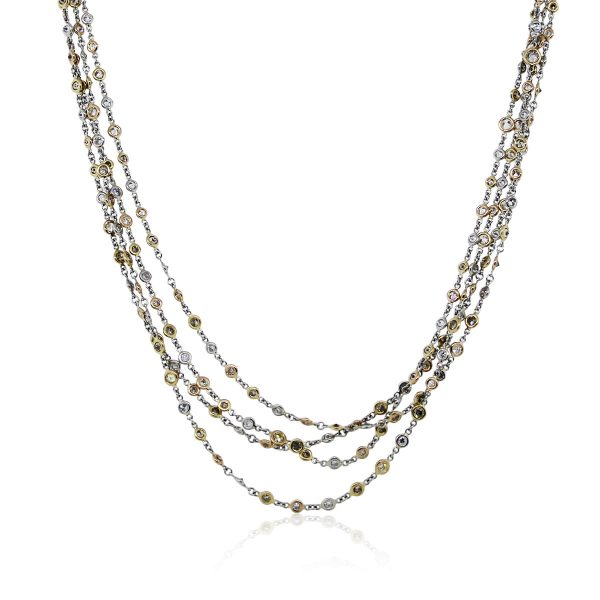 "You are viewing this Platinum 18k Yellow Gold 106"" Diamonds by The Yard Necklace!"