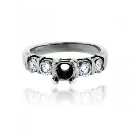 You are viewing this 18k White Gold Round Brilliant Diamond Setting Engagement Ring!