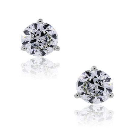 You are viewing these 14k White Gold 2.01ctw Diamond Stud Earrings!
