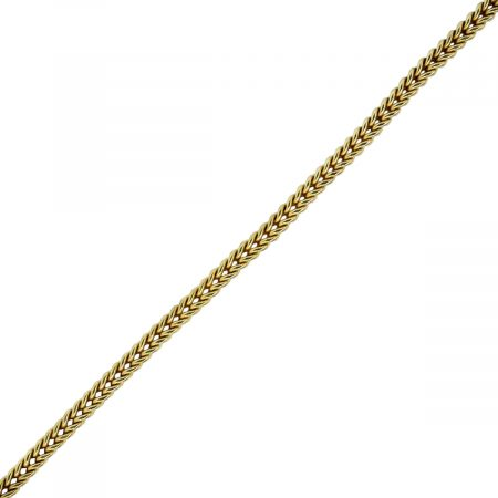 You are viewing this 18k Yellow Gold Diamond Accent Woven Bracelet!