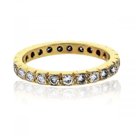 You are viewing this 14k Yellow Gold Eternity Diamond Band Ring!