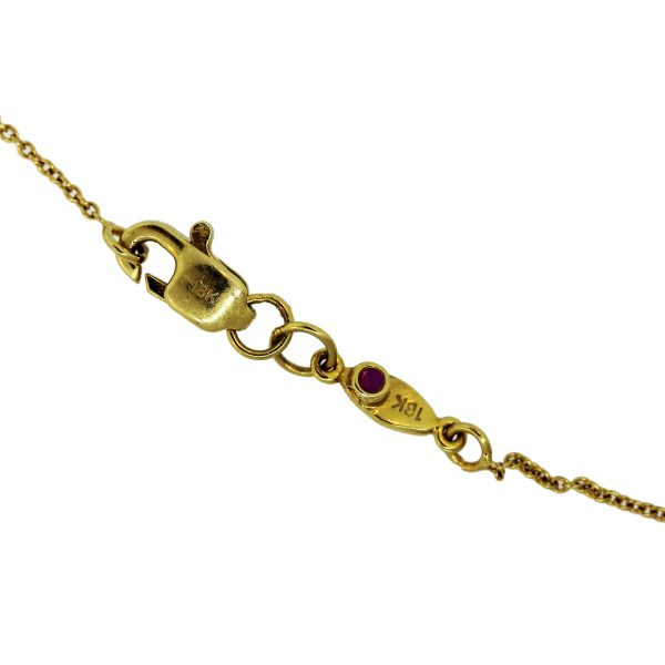 "Roberto Coin 18k Yellow Gold ""J"" Disc Pendant Necklace"