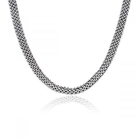 You are viewing this 18k White Gold Mesh Necklace!