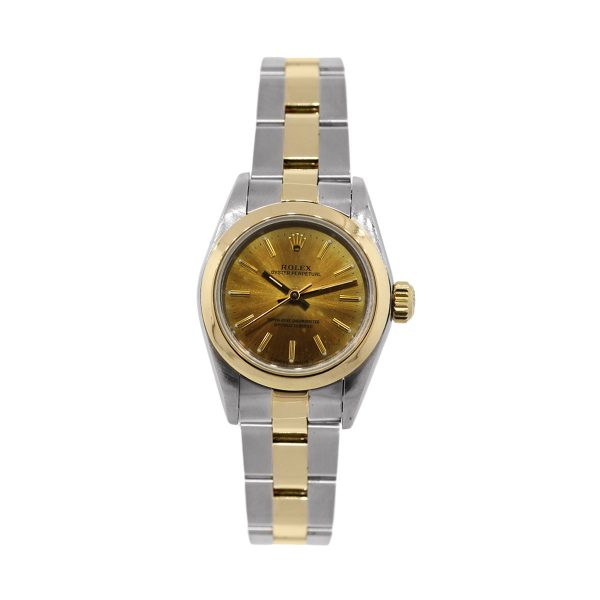 Rolex Oyster Perpetual 67183 Two Tone Gold Dial Oyster Watch