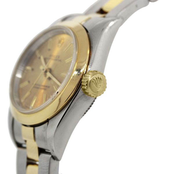 Rolex Oyster Perpetual Two Tone Gold Dial Ladies Watch