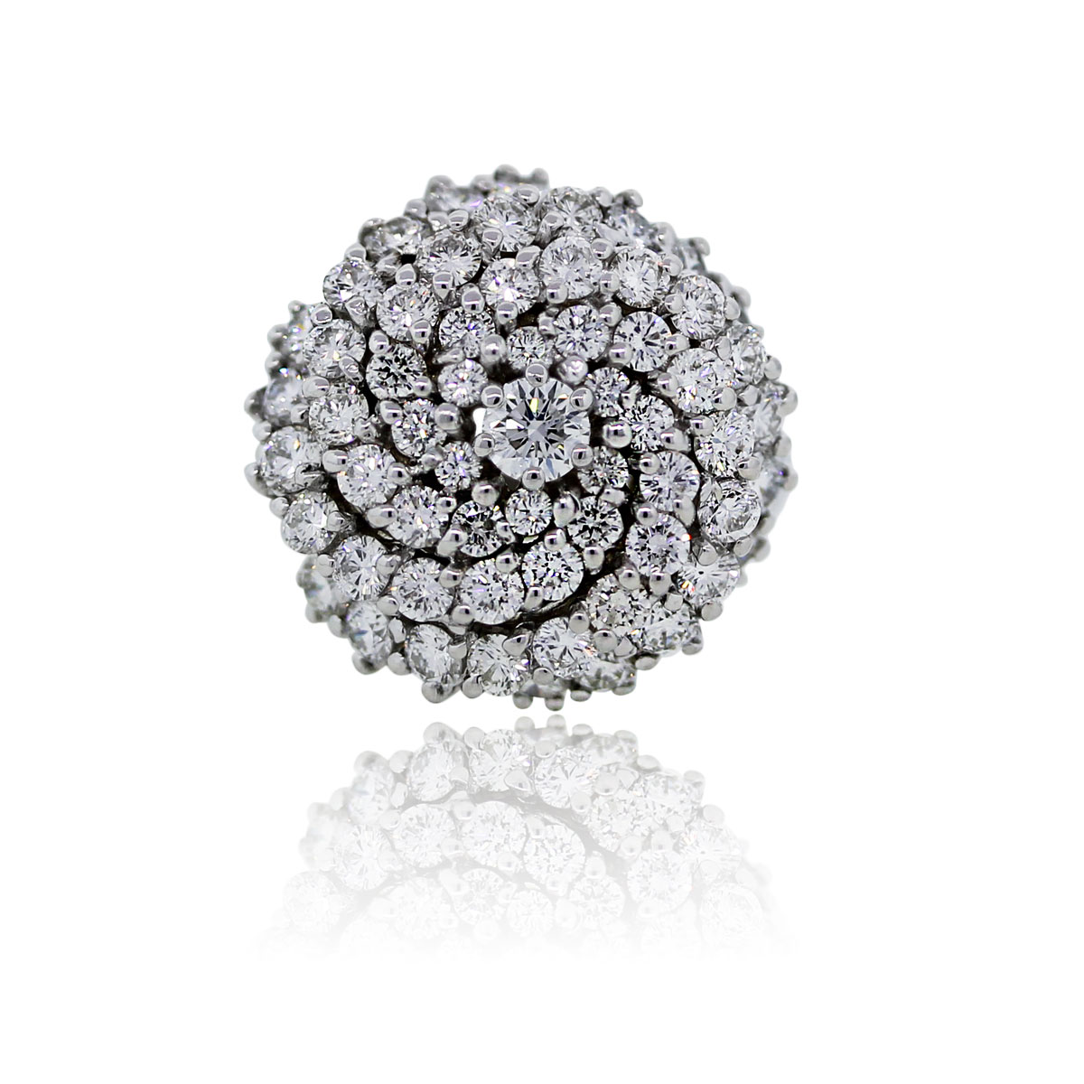 You are viewing this 14k White Gold 2ctw Diamond Cluster Ring!