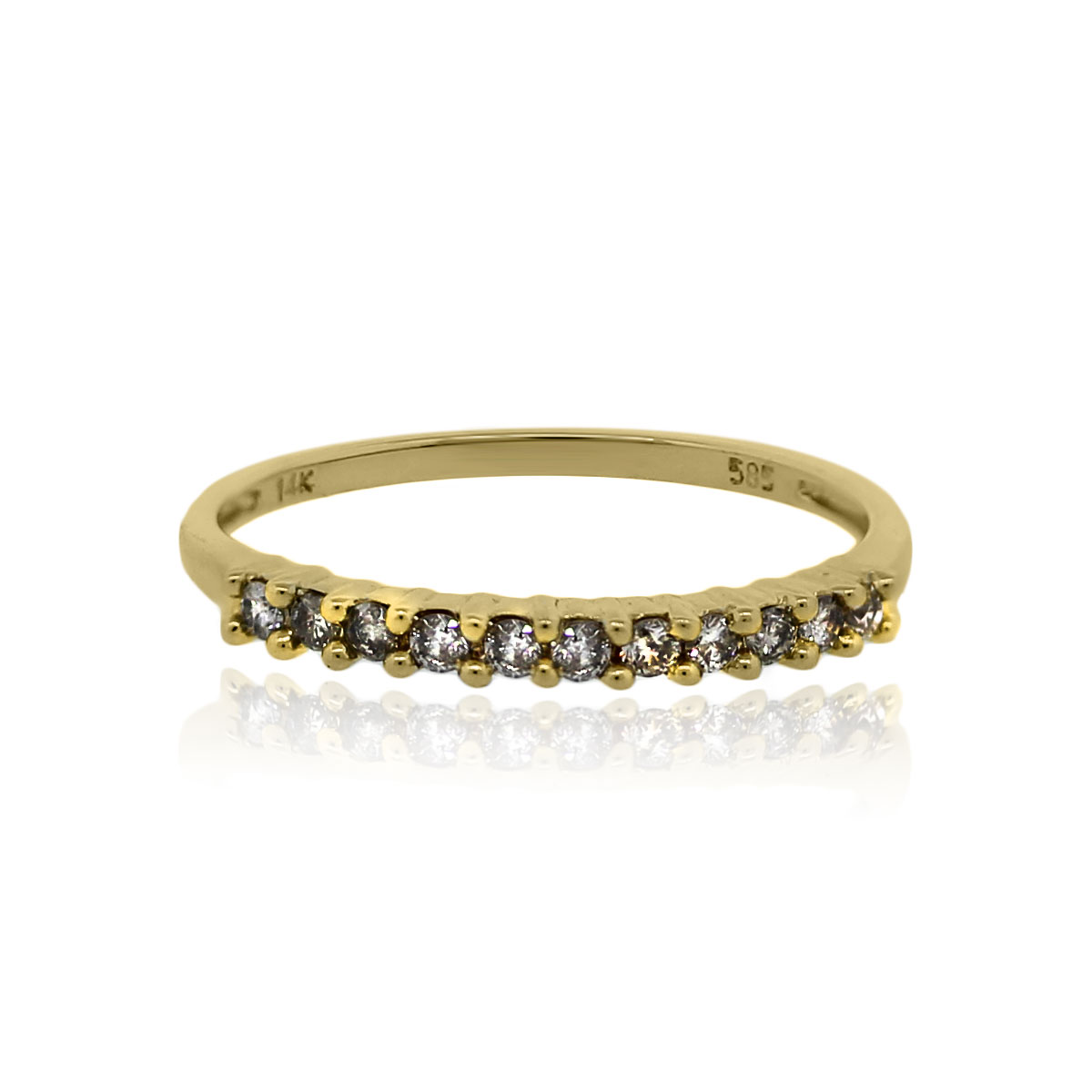 You are viewing this 14k Yellow Gold 0.20ctw Round Brilliant Diamond Band Ring