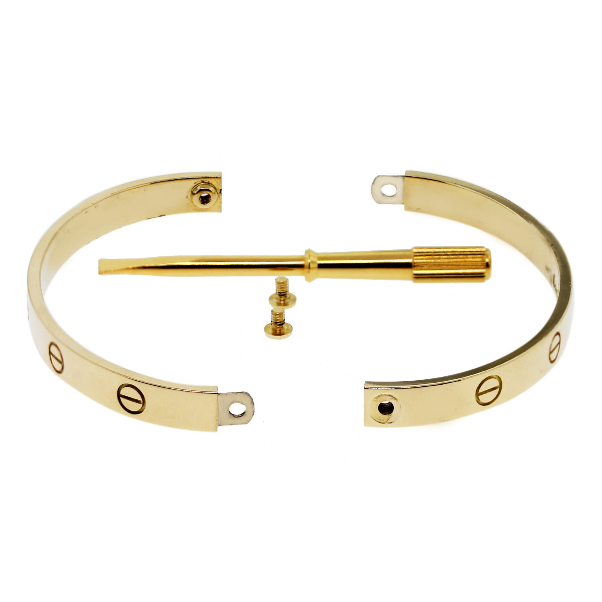 Cartier 18k Yellow Gold LOVE Bracelet Bangle Size 18