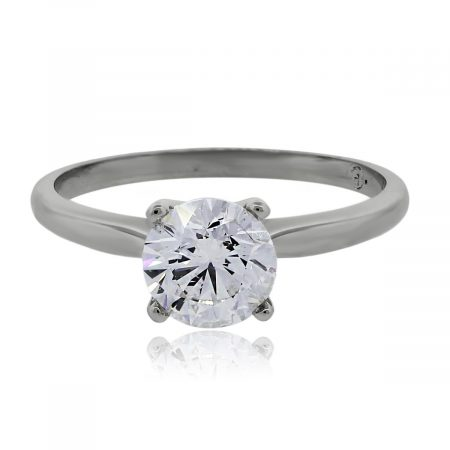 You are viewing this White Gold 1.27ct Round Brilliant Diamond Solitaire Engagement Ring!