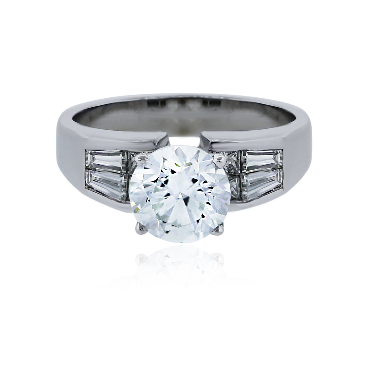 You are viewing this White Gold 1.92ct Round Brilliant Diamond Engagement Ring!