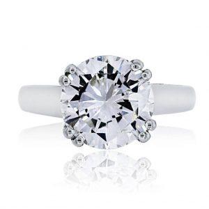 White Gold Round Brilliant Diamond Solitaire Engagement Ring
