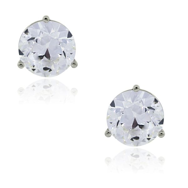 You are viewing these 14k White Gold 2ct Diamond EGL Certified Stud Earrings!