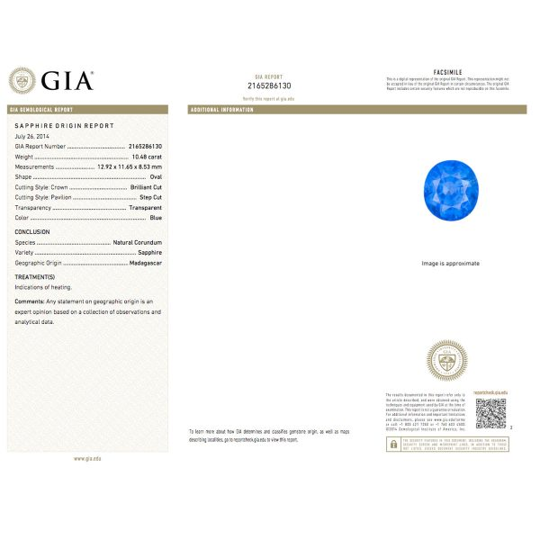 18k Yellow Gold Oval Natural Heated Madagascar Sapphire Diamond Ring GIA report