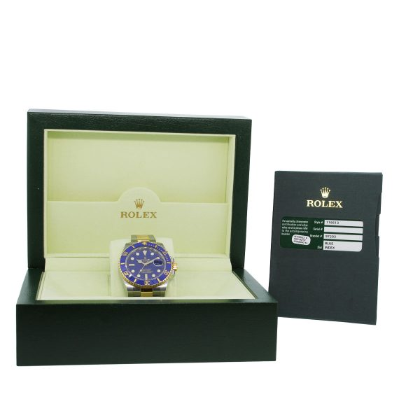 Rolex Submariner 116613 Blue Dial Two Tone Watch box and papers