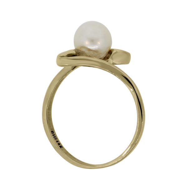 14k Yellow Gold 6mm Pearl Ring