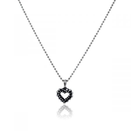 You are viewing this Lagos Sterling Silver Caviar Heart Bead Chain Necklace!