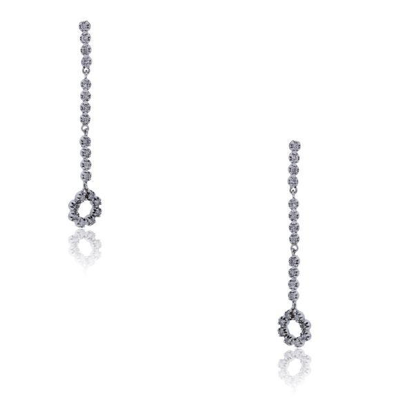 You are viewing these 14k White Gold .40ctw Diamonds Drop Dangle Earrings!