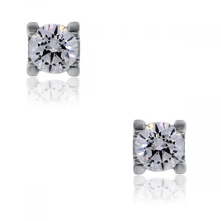 You are viewing these 14k White Gold Round Brilliant Diamond Stud Earrings!