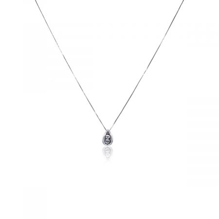 You are viewing this 14k White Gold Chain with Diamond Slide Pendant Necklace!