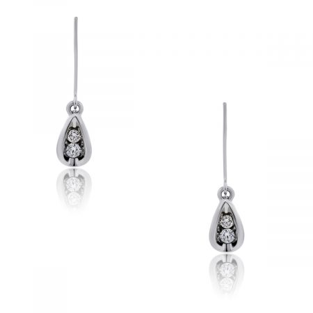 You are viewing these 14k White Gold Diamonds Drop Dangle Earrings!